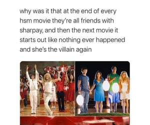 funny, tumblr post, and high school musical image