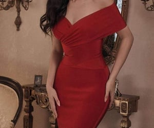 dress, red, and فساتين image