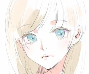 art, blue eyes, and blushing image