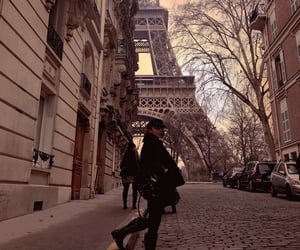eiffel tower, france, and girl image