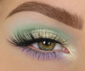 green, colors, and eyebrows image
