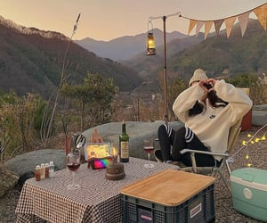autumn, camping, and cozy image