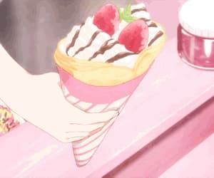 dessert, anime food, and gif image