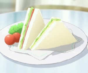 lettuce, anime food, and tomato image
