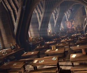 classroom, harry potter, and hogwarts image