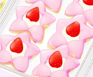 Cookies, pink, and cream image