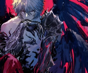 anime, boy, and fallen angel image