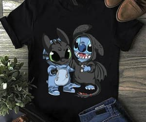 stitch, toothless, and tshirt image