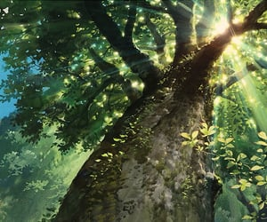 anime, tree, and nature image