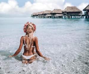 beach, fashionista, and girl image