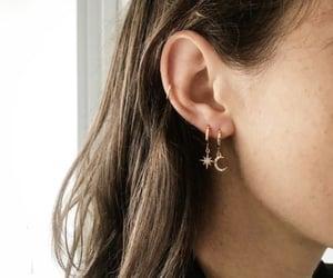 earrings, girl, and fashion image