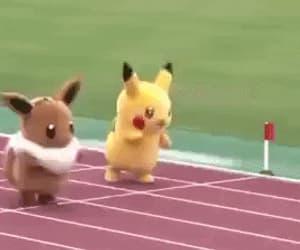 eevee, gif, and pikachu image