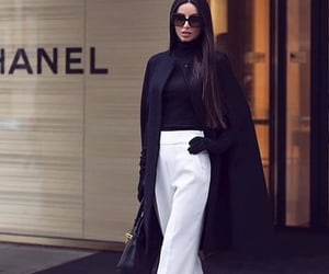 black & white, brands, and classy image