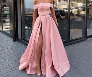 dress, elegance, and pink image