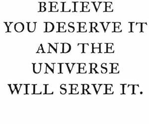 quotes, believe, and universe image
