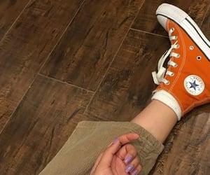 aesthetic, fashion, and orange shoes image