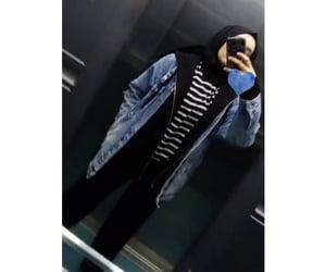blue, okey, and hijab image