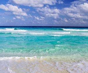 sea, beach, and blue image