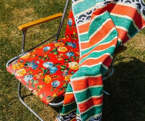 chairs, patterns, and beach towel image