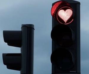 neon, traffic light, and love image