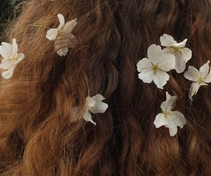 hair, flowers, and aesthetic image