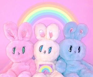 bunny, colorful, and kawaii image