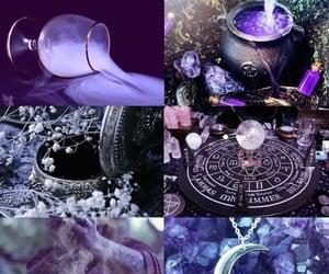 crystals, pentagram, and spells image