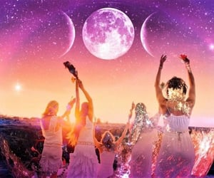 dance, lunar, and witchcraft image