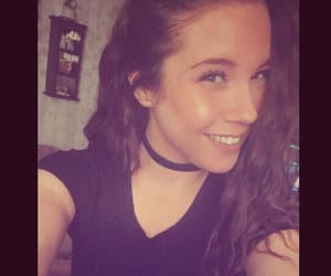 brunette, necklace, and choker image