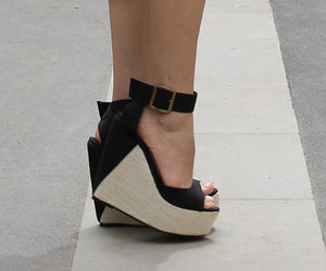 black heels, black shoes, and clothes image