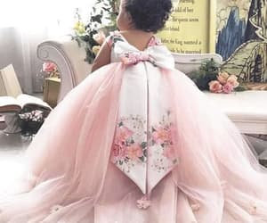 vestido de festa, pink flower girl dress, and printed flower girl dress image