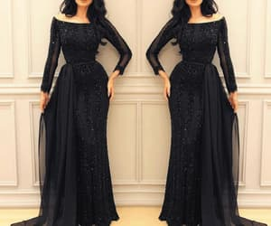 robe de soirée, dubai fashion, and black evening dress image