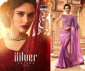 brand, partywear, and saree image