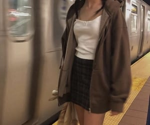 outfit, aesthetic, and subway image