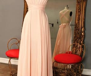 pink bridesmaid dress, chiffon bridesmaid dress, and cheap bridesmaid dress image