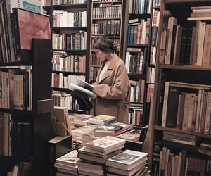 books, bookstore, and moments image