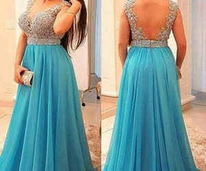 formal dresses, chiffon prom dress, and prom gown image
