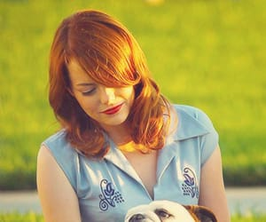 dog, emma stone, and gangster squad image