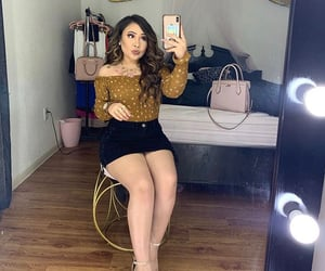 pretty girls, cute outfit, and girl mirror selfies image