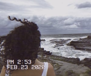 beach, curls, and rock pools image