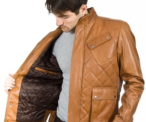 leather jacket, quilted, and berkley image