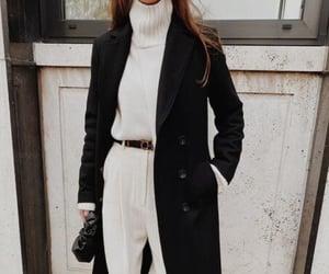 black & white, chic, and fashion image