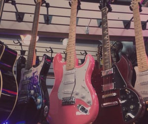 aesthetic, guitar, and pink image