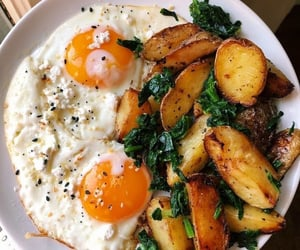 eggs, food, and potato image