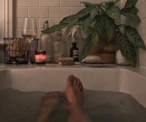 aesthetic, bath, and people image