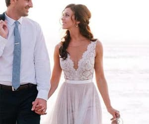 lace, beach wedding, and a line image