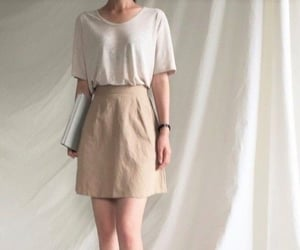beige, skirt, and date image