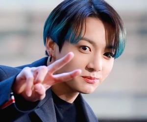 blue hair, today show, and bts image