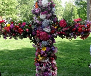 beautiful, flowers, and Christ image