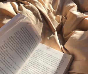 bed, book, and aesthetic image